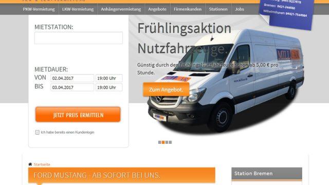 MILLCAR Autovermietung-LKW Vermietung